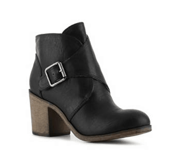DSW Black Leather Bootie