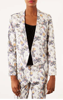 Topshop Floral Print Crop Jacket $45 (on sale) *I just bought this. It's amazing.