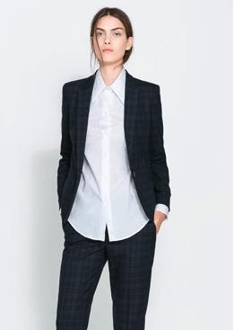 Zara Checked Blazer $89.90