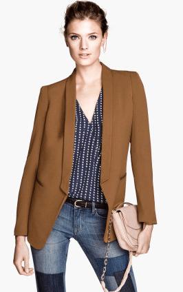H&M Dinner Jacket in Golden Brown $34.95