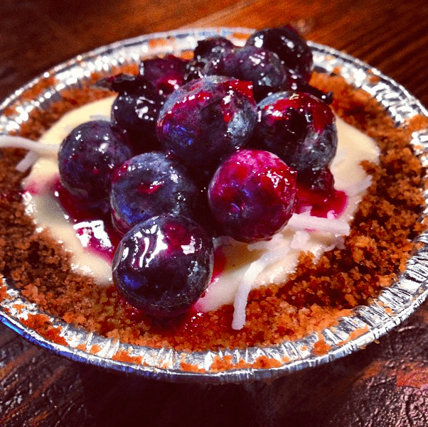 Special Mini Blueberry Coconut Cheesecake from Pie Hole LA