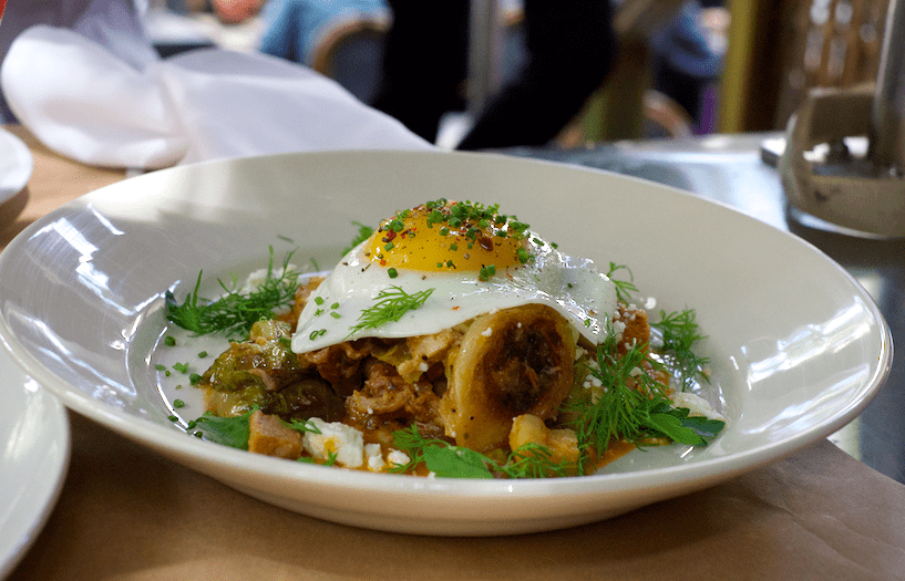 Pork Belly Hash at Cliffs Edge In Silver Lake