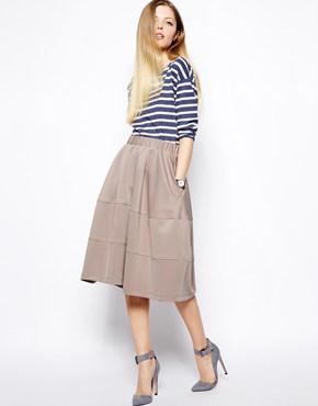 Taupe ASOS Midi Skirt