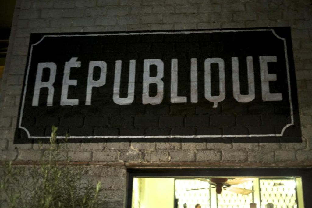 Love & Loathing LA: Republique Exterior