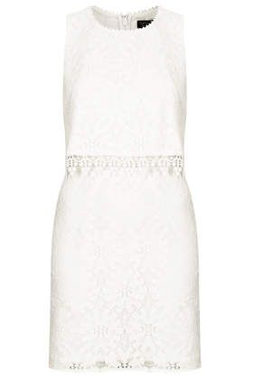 Topshop Crop Overlay Wheel Lace Dress $90
