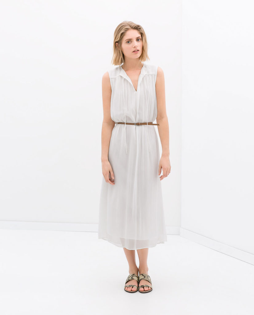 Zara Long Dress With Belt $59.99