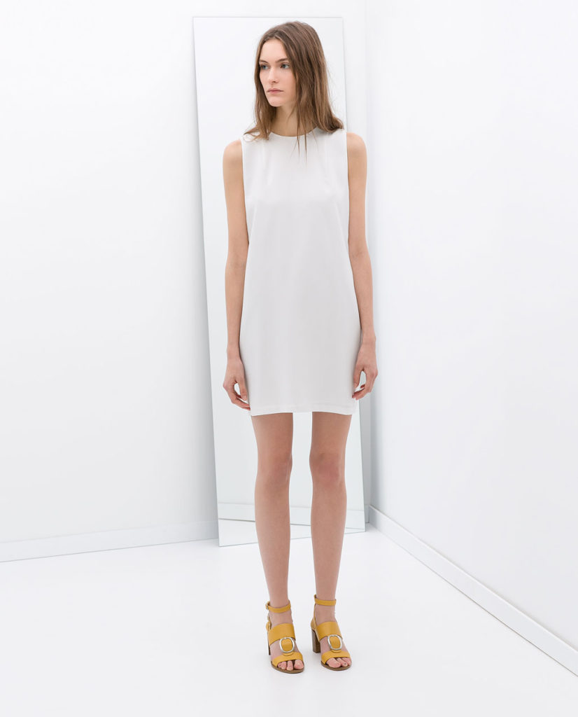 Zara White Sleeveless Dress $39.99
