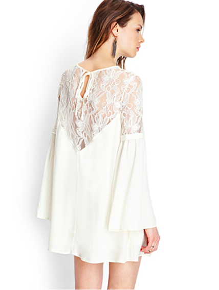 Forever 21 Crocheted Lace Shift Dress $29.80