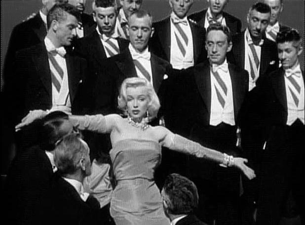 WWCD: gentlemen prefer blondes black and white