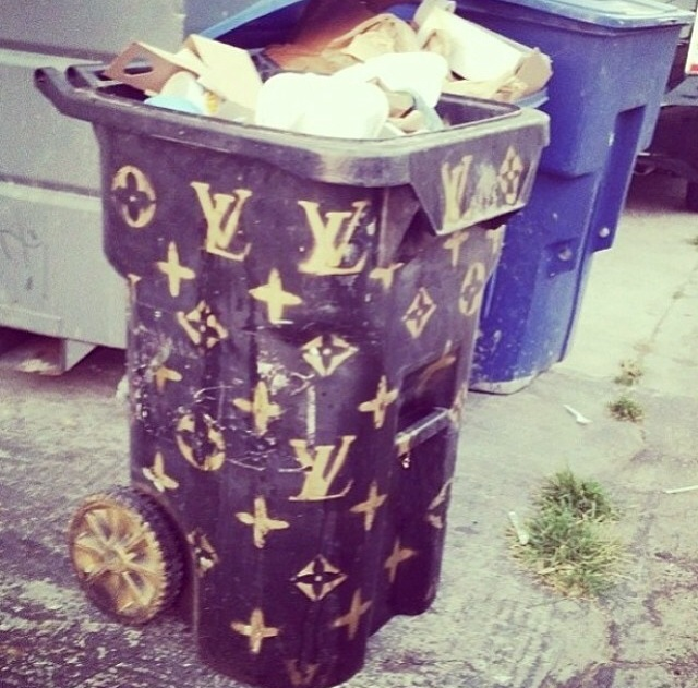 Louis Vuitton Trash Bags only in la louis vuitton trash can - love & loathing los angeles