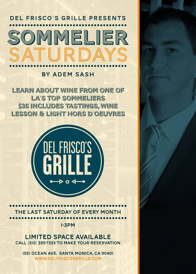 Del Frisco's Grille Sommelier Saturdays
