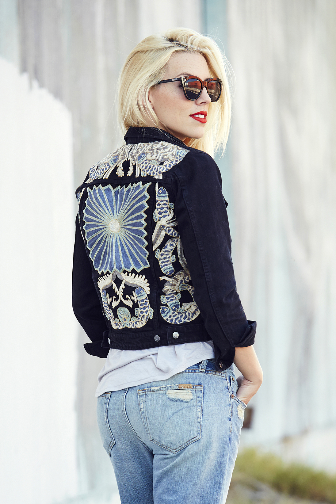 HampM Embroidered Denim Jacket  Love Amp Loathing Los Angeles