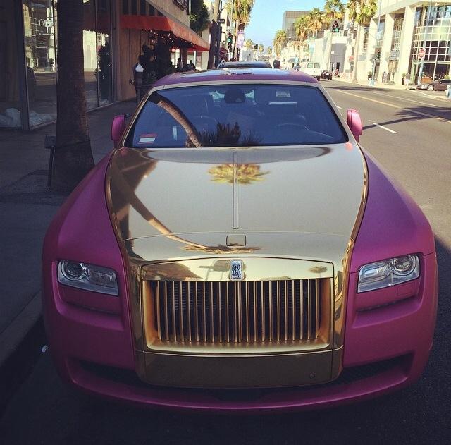 Only In LA Pink & Gold Rolls-Royce - Love & Loathing Los ...