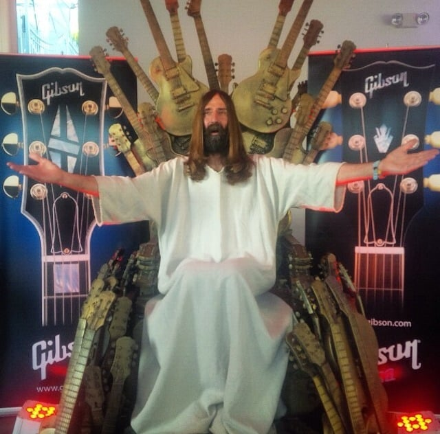 Only In LA: Jesus & Guitar Throne