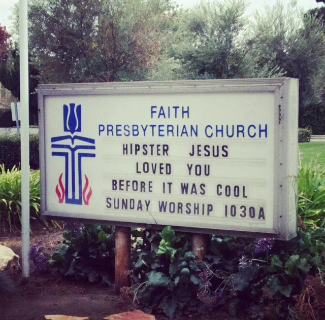 Only In LA: Church Sign