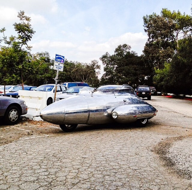 Only In LA: Space Ship Car
