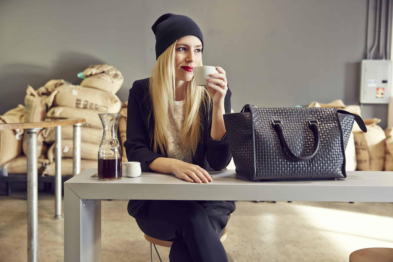 Clare V Black Basketweave Sandrine Bag