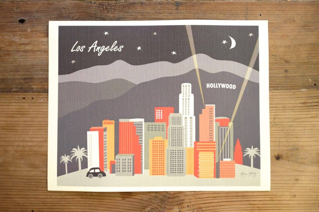 "Loose Petals Los Angeles ""Night"" Print"