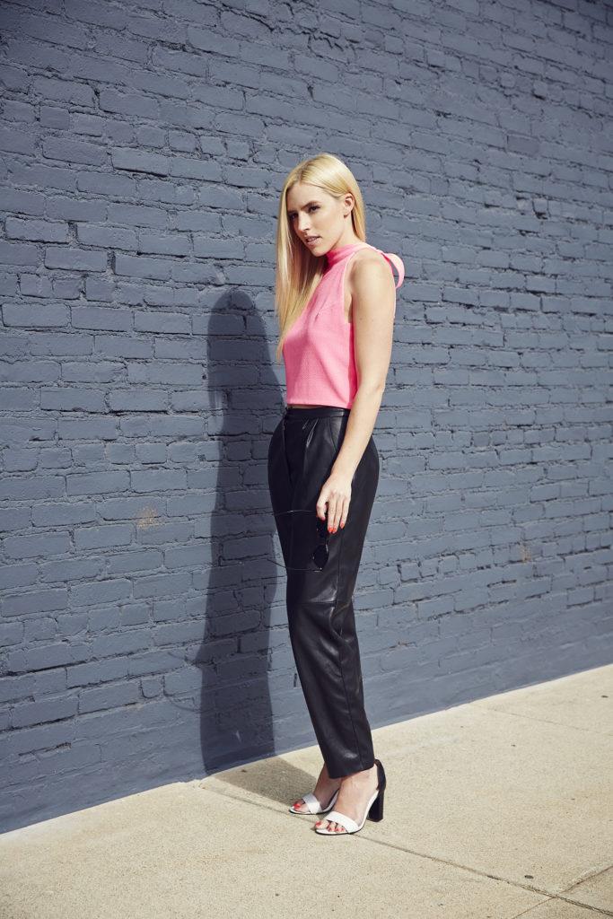Love & Loathing LA: Hot Pink Crop Top + Pleather Pants