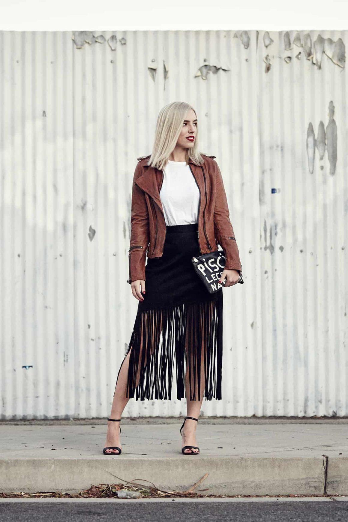 Latest Love: The Fringe Skirt.