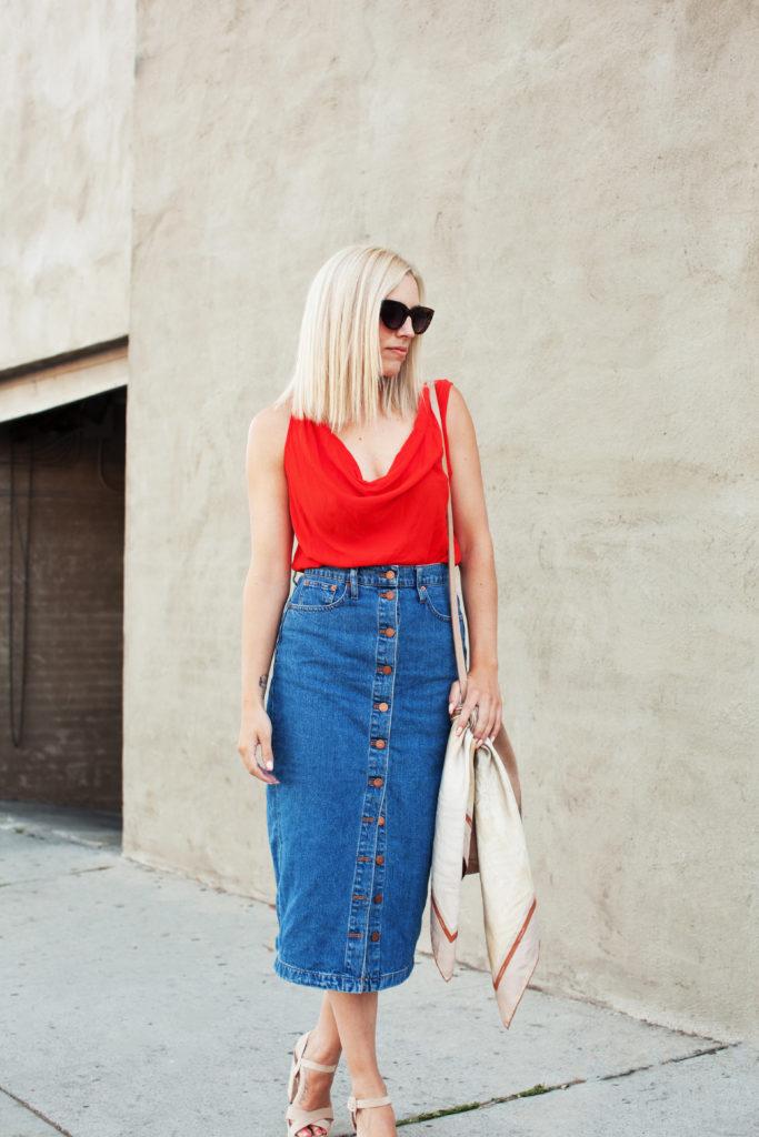 Love and Loathing LA Denim Skirt