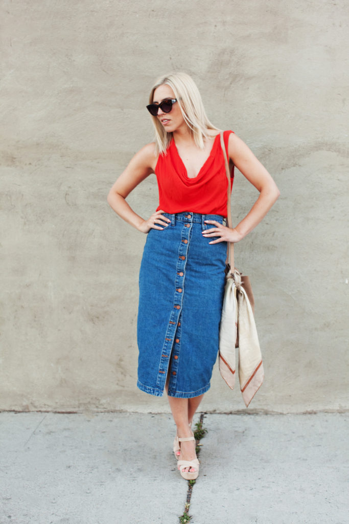 Love and Loathing LA Denim Skirt