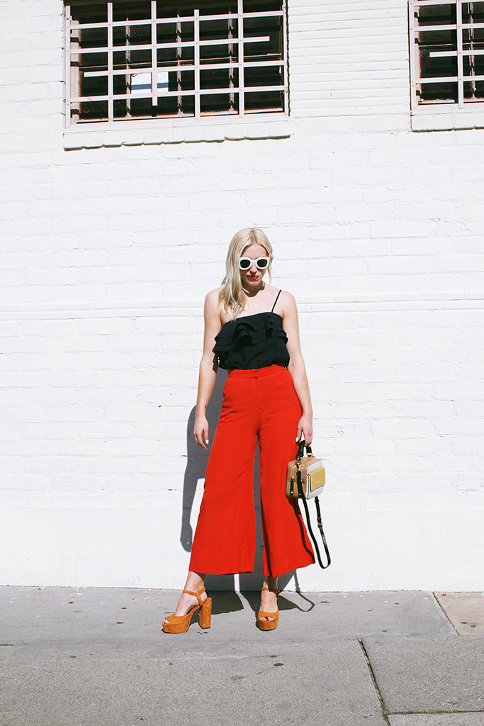 Love and Loathing LA Colorblocking Culottes