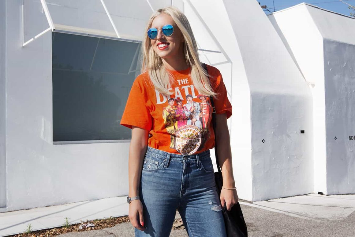 HIGH WASTED AG JEANS + A VINTAGE TEE
