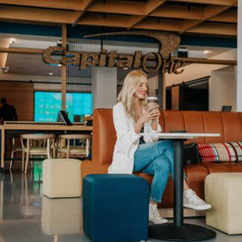 I'LL TAKE AN ALMOND MILK LATTE WITH A SIDE OF MONEY COACHING – IN PARTNERSHIP WITH CAPITAL ONE CAFE