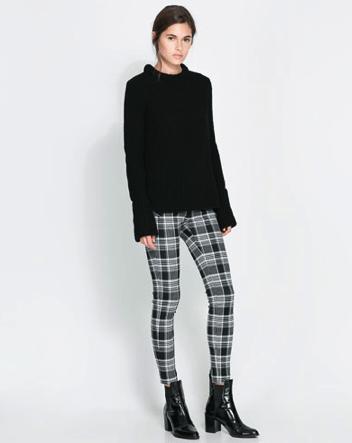 Zara Checked Print Trouser