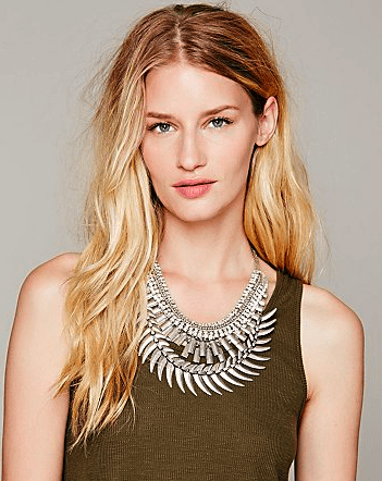 Free People Crescent Crystal Collar