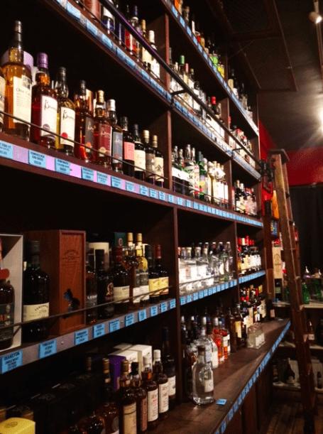 Wall of Spirits at Bar Keeper Silver Lake