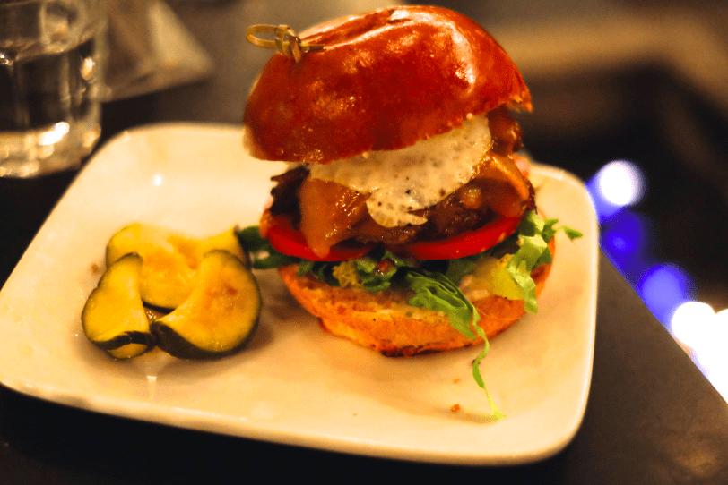 Mud Hen Tavern Hangover Burger