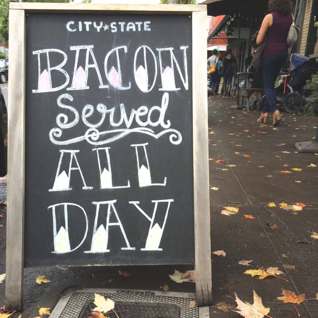 City State Bacon Sign Portland
