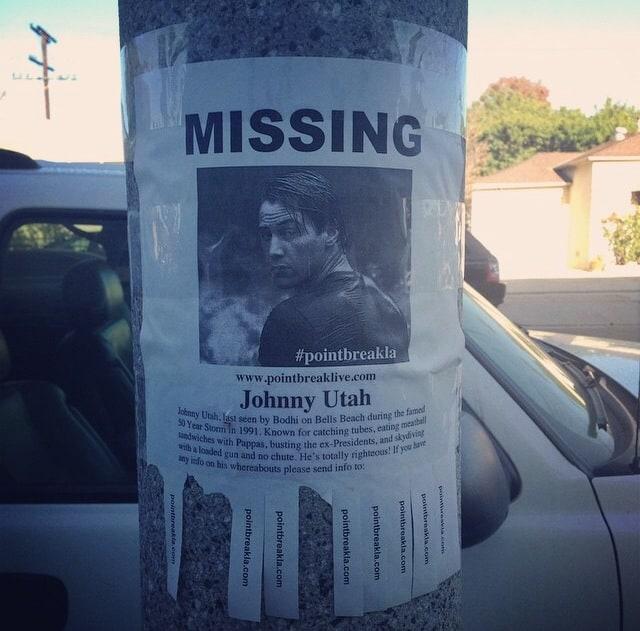 Only In LA: Johnny Utah Missing Sign