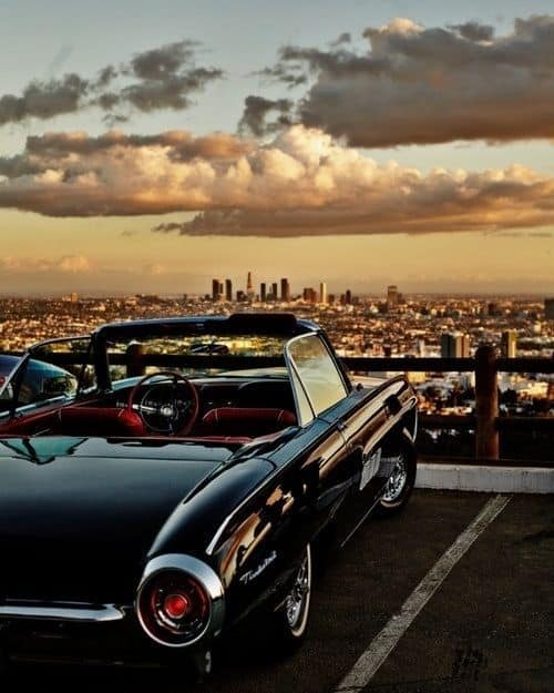 Vintage Car & A View of LA