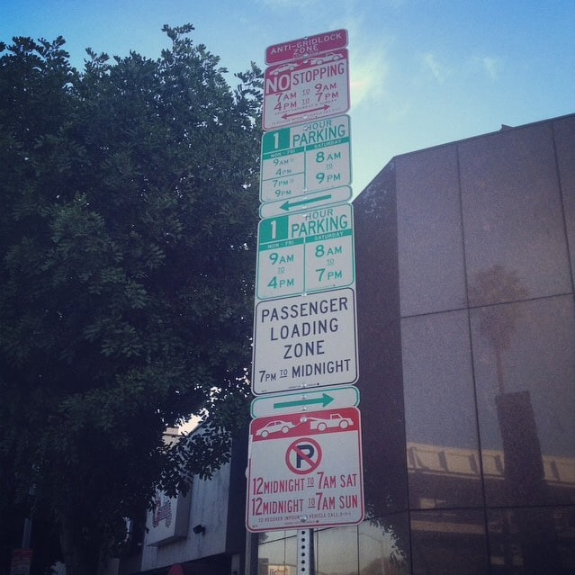 Only In LA: Parking Signs.
