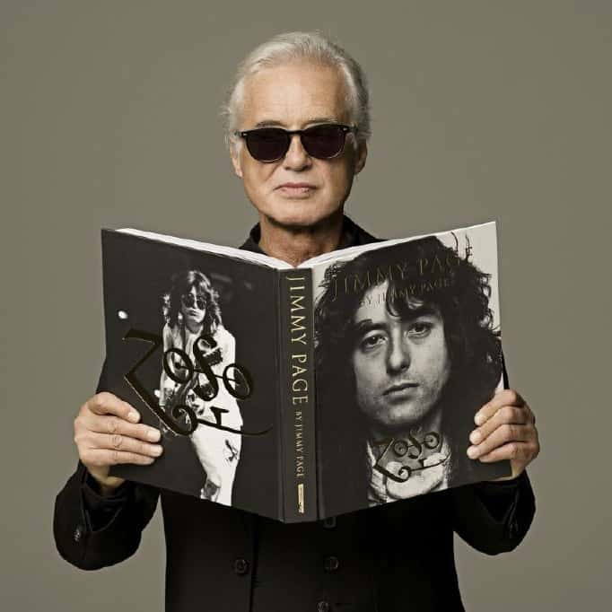 Jimmy Page with Jimmy Book