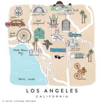The Cutest Map Of LA, Maybe Ever.