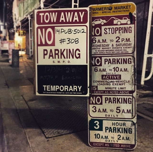 Only In LA: Parking Sign