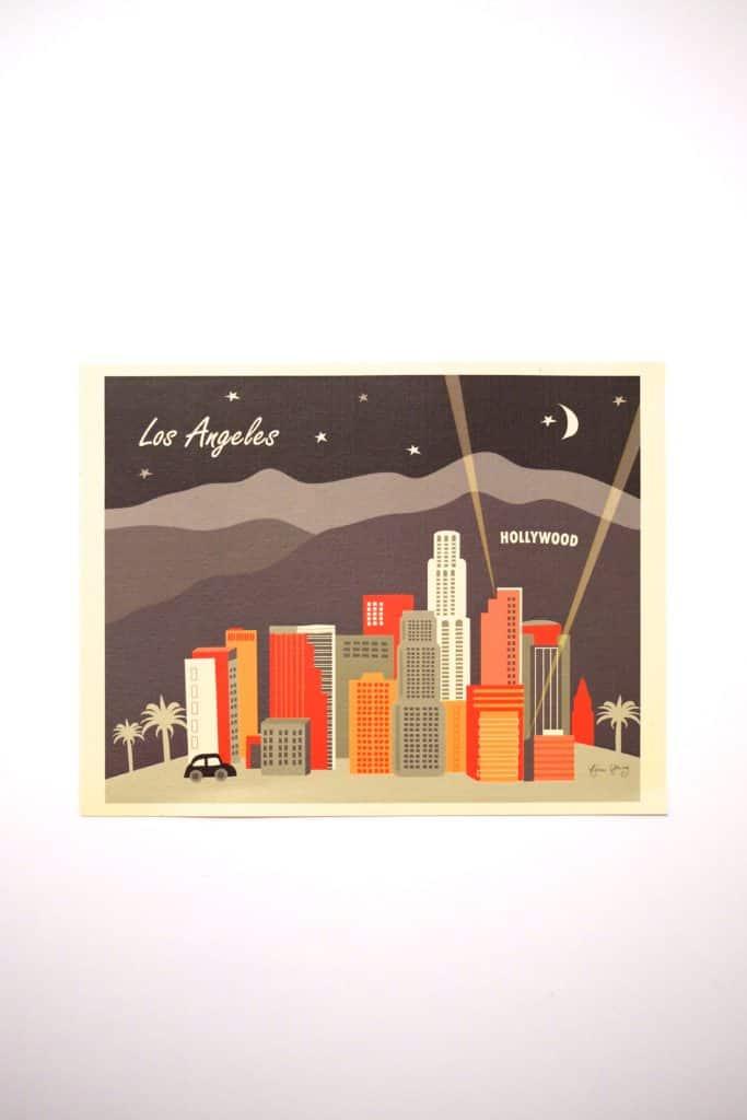 """Loose Petals Retro """"Los Angeles At Night"""" Print"""