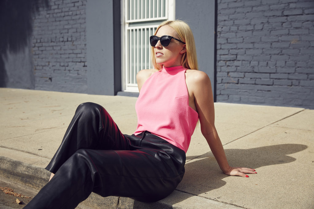Love & Loathing LA: Hot Pink Crop Top + Pleather Pants