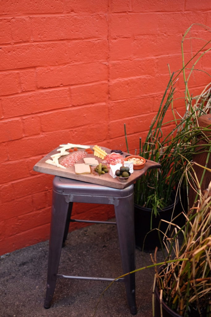 food platter on a chair