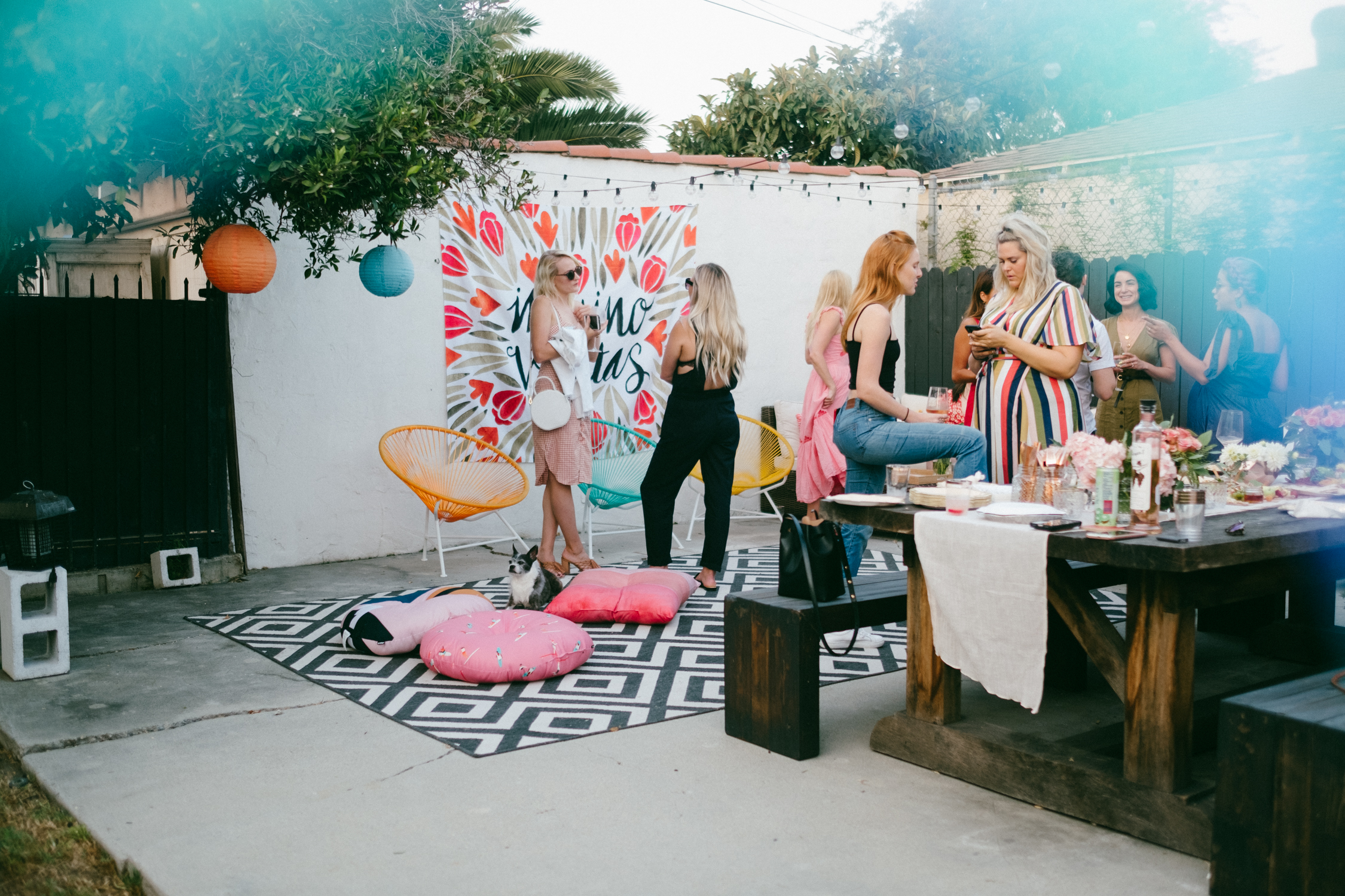 women enjoying and partying for rosé all day cocktail party