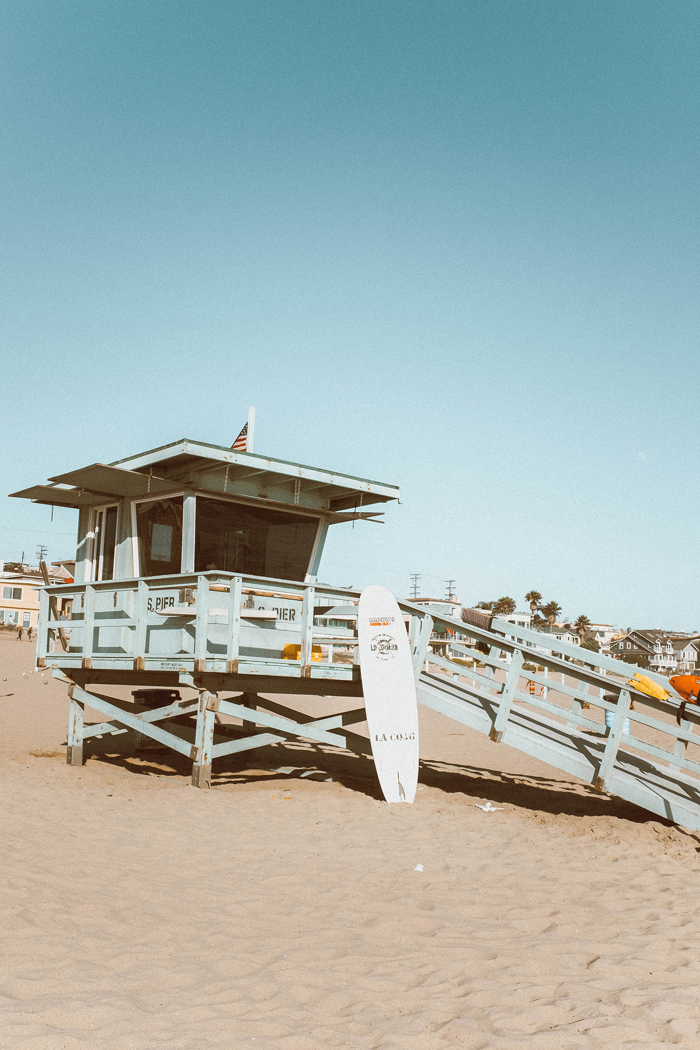 lifeguard house at the beach for perfect day in malibu
