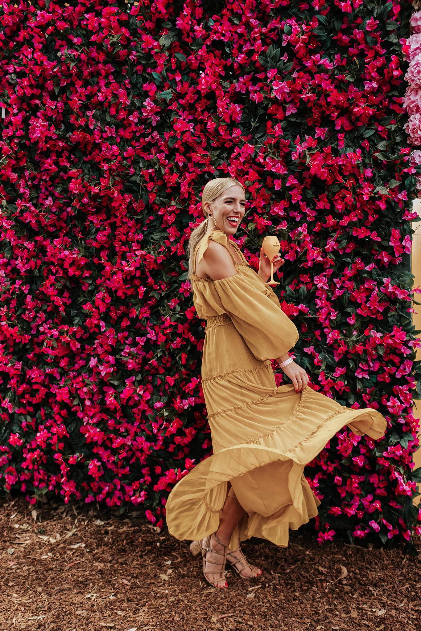 yellow Misa Los Angeles Dress