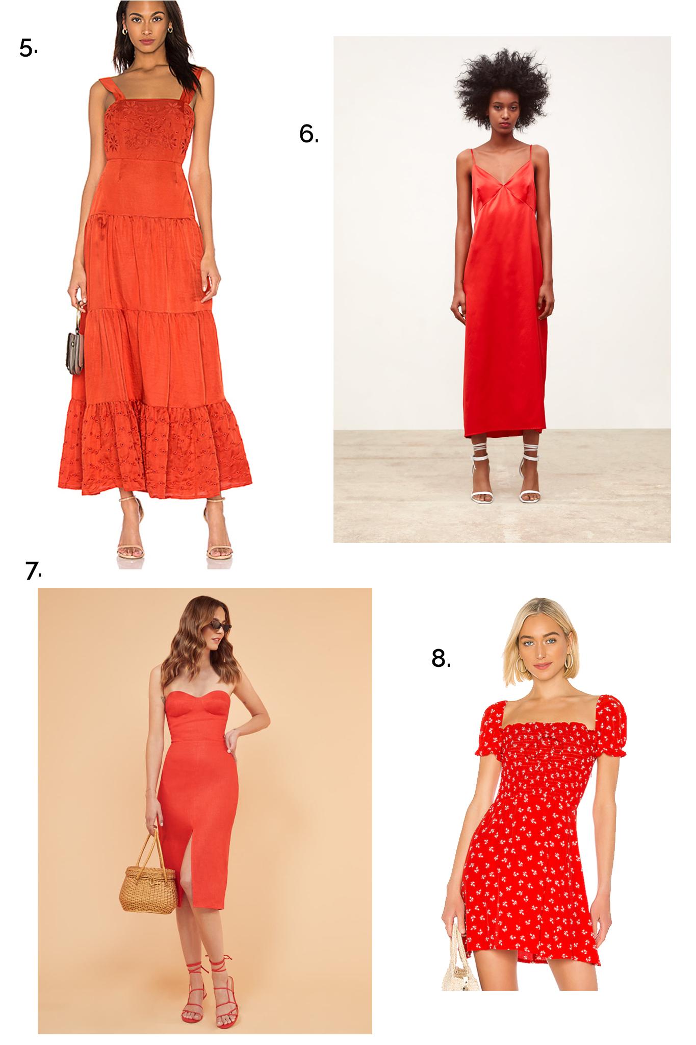SUMMER RED DRESS ROUNDUP