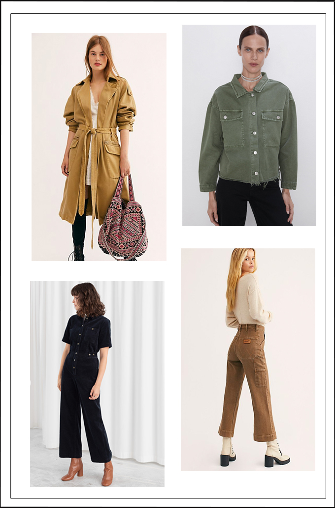utility-style jumpsuits