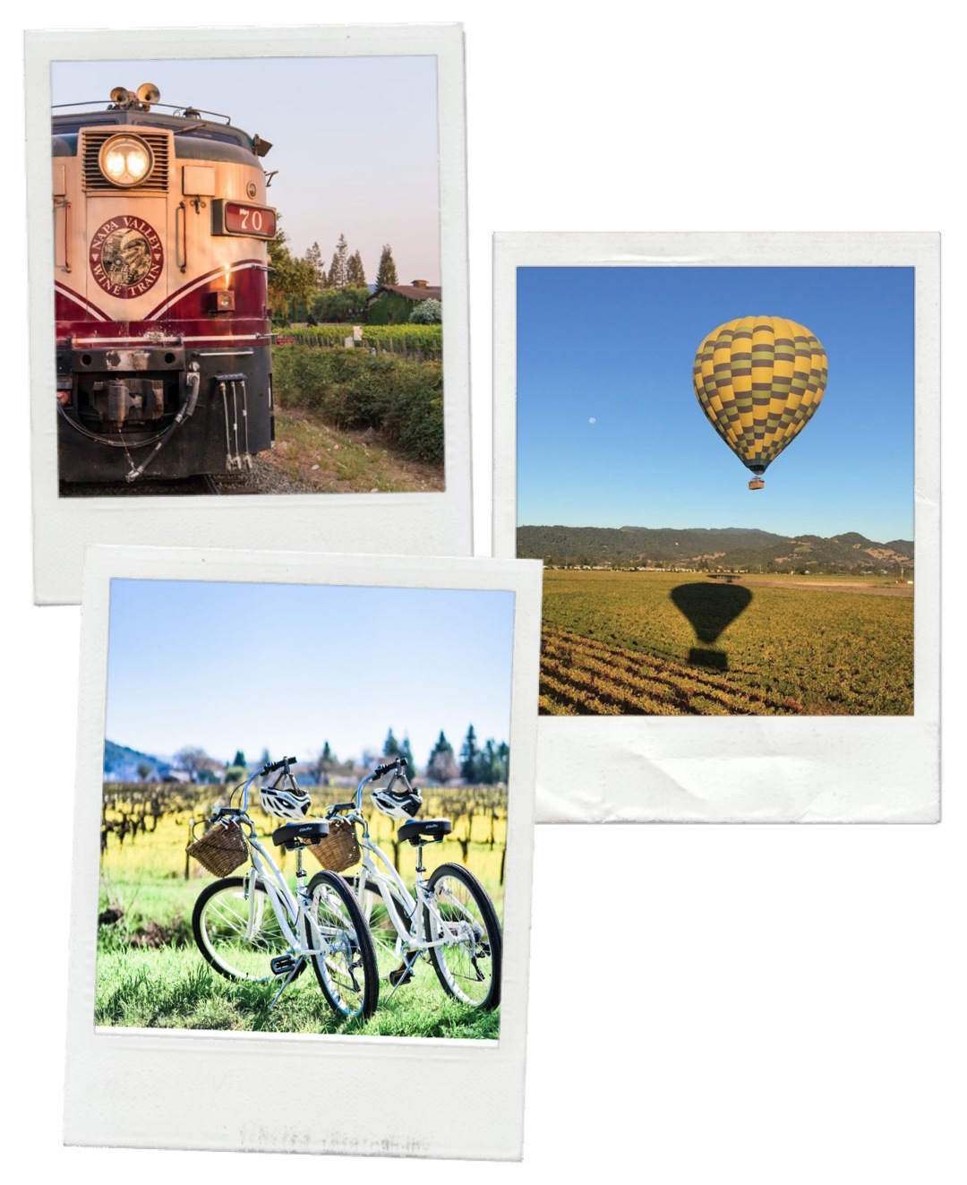 Instagram Photo Credit - clockwise: @winetrain | @ballonsabovethevalley | @willbikeforwine]