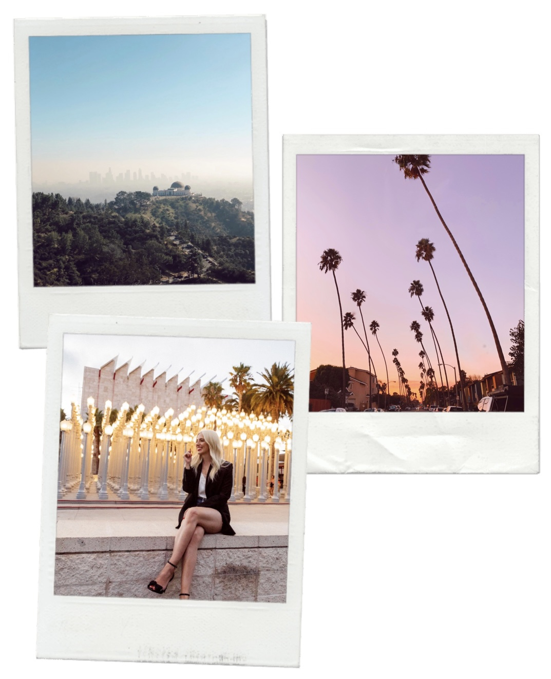 collage of images of destinations in LIVING IN LA